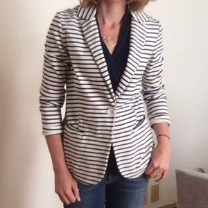 Philosophy - Maritime Striped Knit Blazer